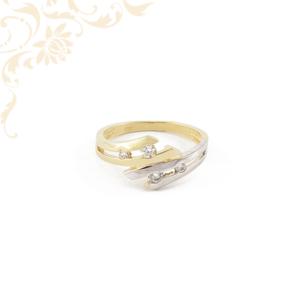 Cikónia köves női arany gyűrű