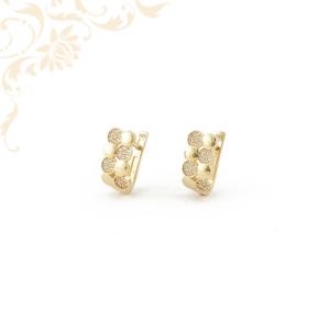 Cirkónia kövekkel díszített arany fülbevaló