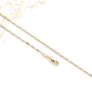 Lapos, hosszúkás szemekből kialakított női arany nyaklánc