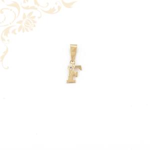Arany F betű medál