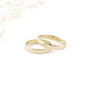 Klasszikus fazonú, enyhén domború arany karikagyűrű pár