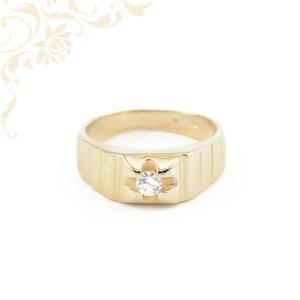 Férfi köves arany pecsétgyűrű
