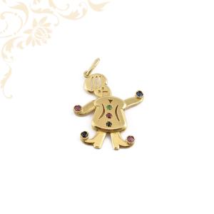 Arany medál rubin, zafír és smaragd kövekkel