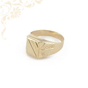 Férfi arany gyűrű, arany pecsétgyűrű