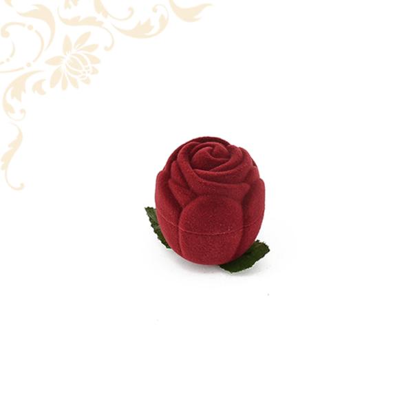 Rózsafej bordó gyűrűdoboz