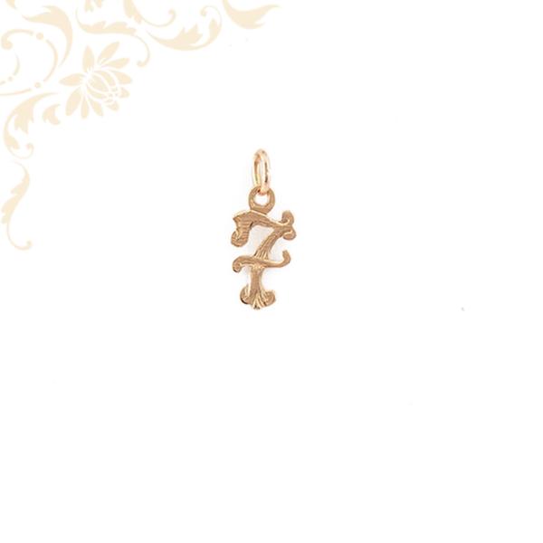 7-es számot stilizáló rozé (vörös) arany medál