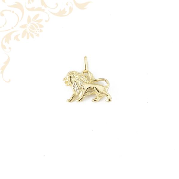 Oroszlán arany horoszkópos medál.