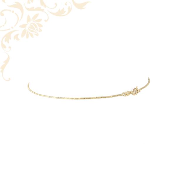 Kígyólánc fazonú női arany bokalánc