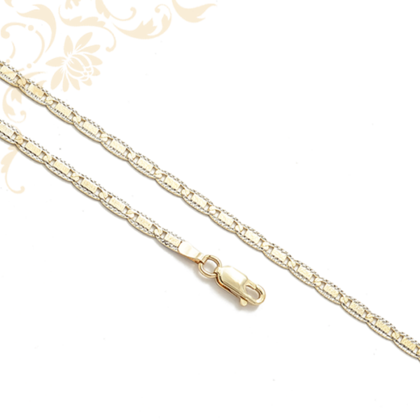 Gyámántvésett mintával díszített női arany nyaklánc