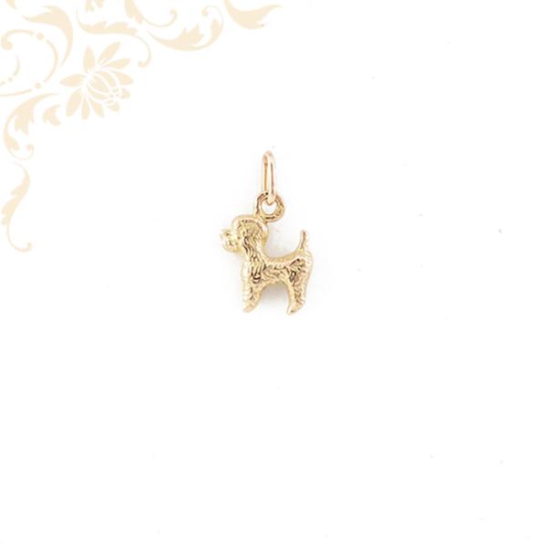 Arany uszkár, pudli medál. Uszkár kutya kedvelőknek kitűnő ajándé
