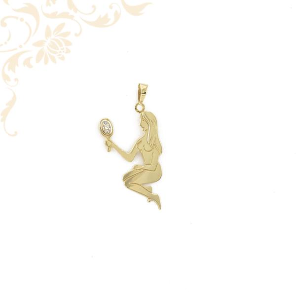 Női arany medál brilliáns csiszolású gyémánttal ékesítve