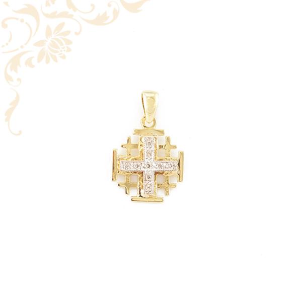 Nagyon elegáns női arany medál gyémántokkal ékesítve