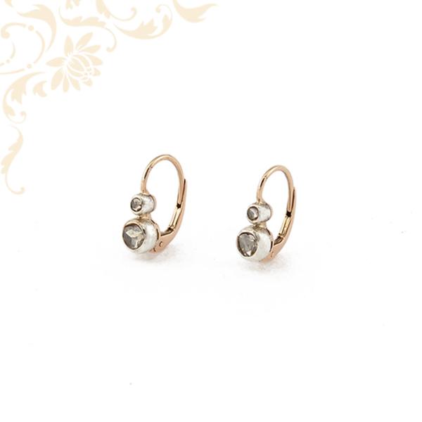Klasszikus fazonő női arany gyémánt fülbevaló