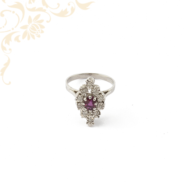 Női arany gyémántköves gyűrű