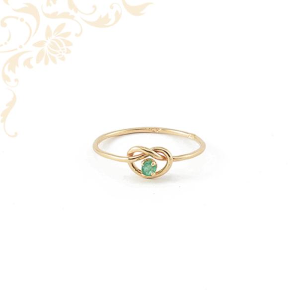 Smaragd köves női arany gyűrű