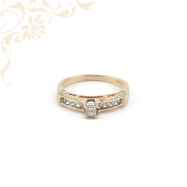 Női arany brill köves gyűrű