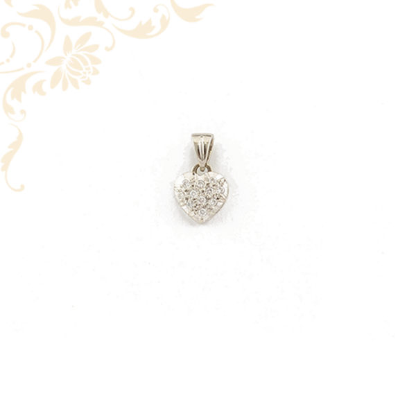 Szív alakú gyémánt arany medál