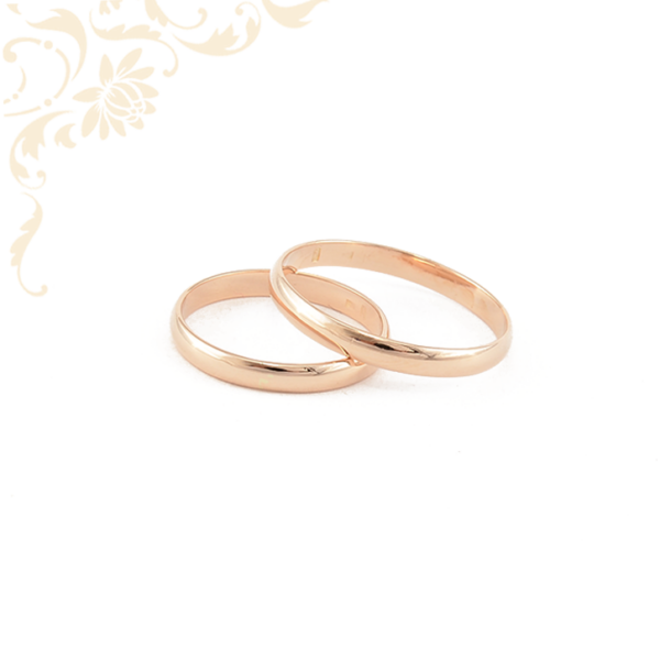 Arany karikagyűrű pár vörös aranyból