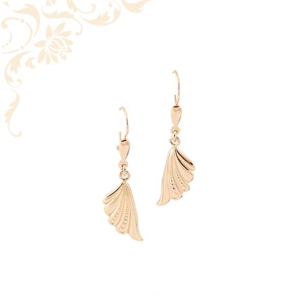 női lógós-csüngős arany fülbevaló