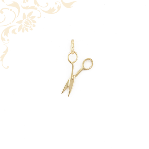 Olló formájú arany medál