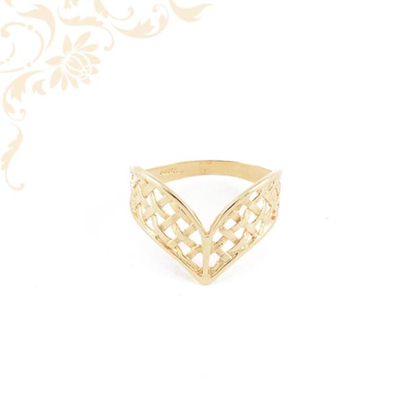 Áttört mintás női arany gyűrű