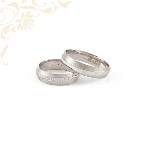 Fehér arany karikagyűrű pár