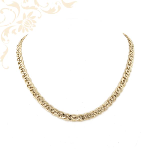 Lapított szemes női arany nyaklánc