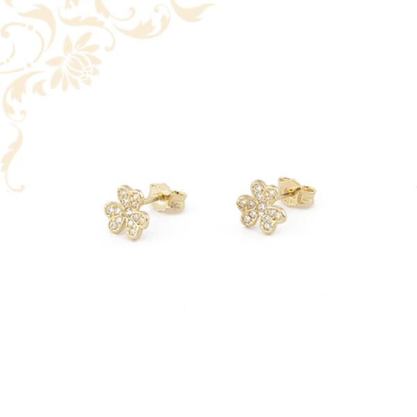 Virág formájú arany fülbevaló