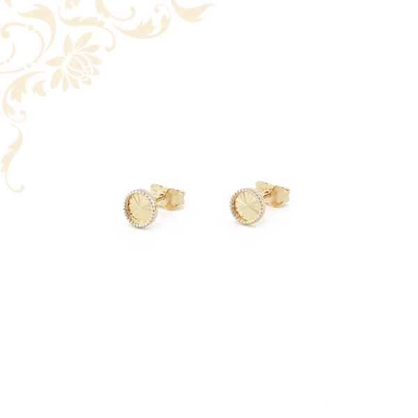 Kerek formájú arany fülbevaló