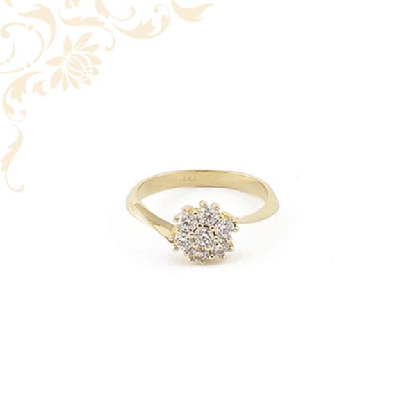 Nagyon szép és elegáns cirkónia köves női arany gyűrű