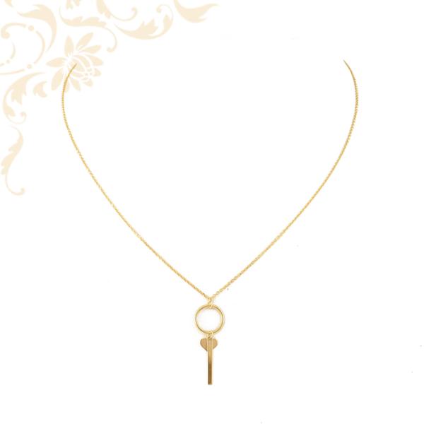 Anker fazonú női arany nyaklánc medállal