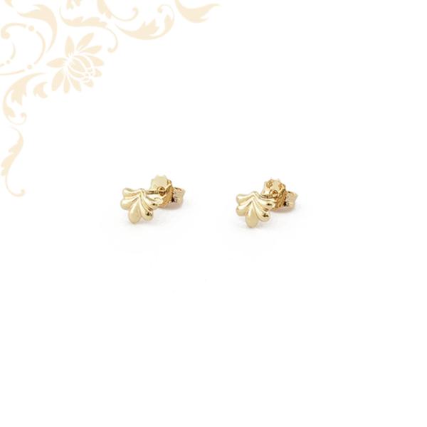 Levél formájú stekkeres arany fülbeval