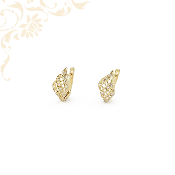Cirkónia köves női arany fülbevaló