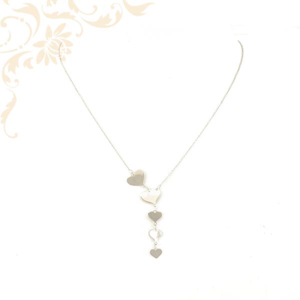 Fehérarany szívecskés női arany nyaklánc