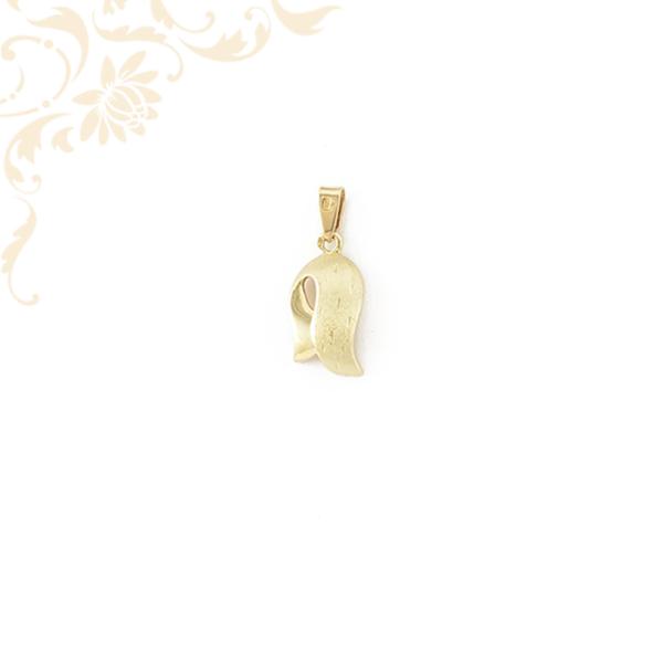 Gyémántvésett mintával díszített arany medál.