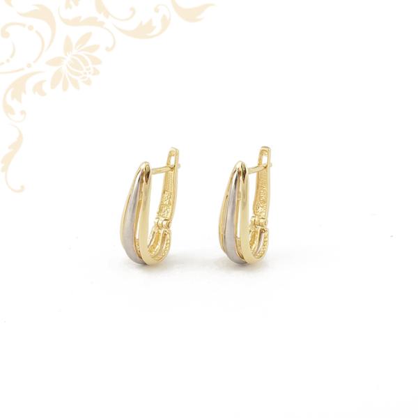 Francia záras női arany fülbevaló