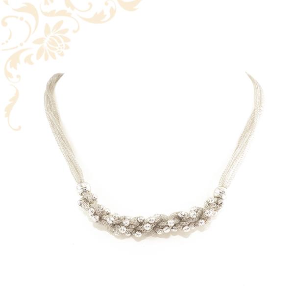 Nagyon különleges és elegáns, ezüst gömbökkel dísztett női ezüst nyaklánc