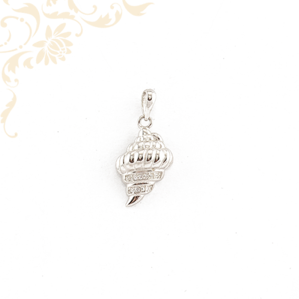 Tengeri csillag ezüst medál, fehér színű cirkónia kövekkel díszítve