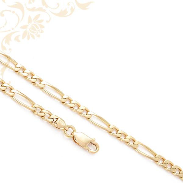 Figaro fazonú arany nyaklánc 3+1 szemes