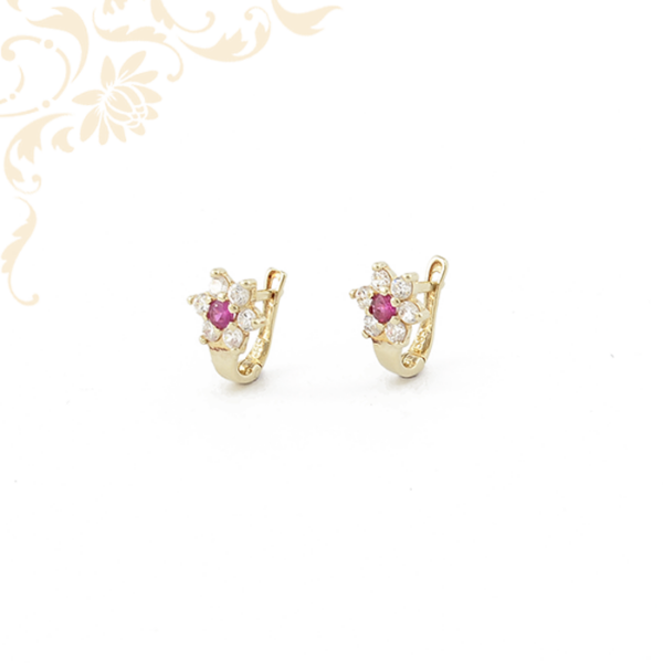 Virág formájú gyermek arany fülbevaló