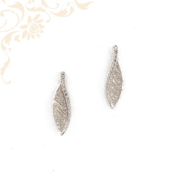Fehérarany női fülbevaló cirkónia kövekkel