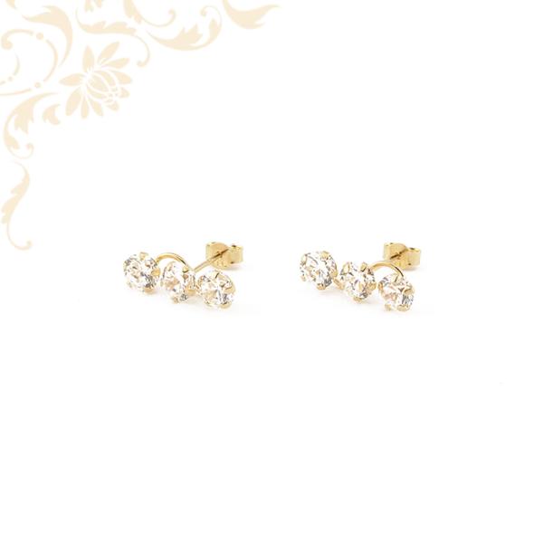 Cirknia köves női arany fülbevaló