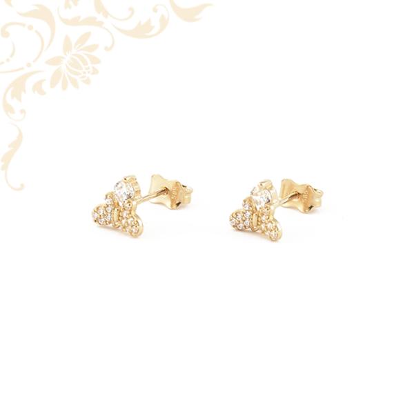 Pillangós arany fülbevaló
