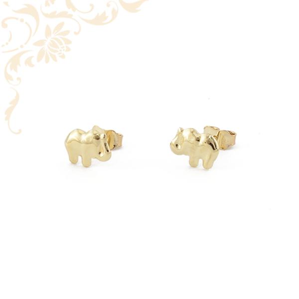 Elefántot ábrázoló arany fülbevaló.