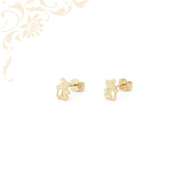 Egérkét ábrázoló stekkeres arany fülbevaló