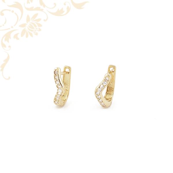 Cirkónia köves arany fülbevaló