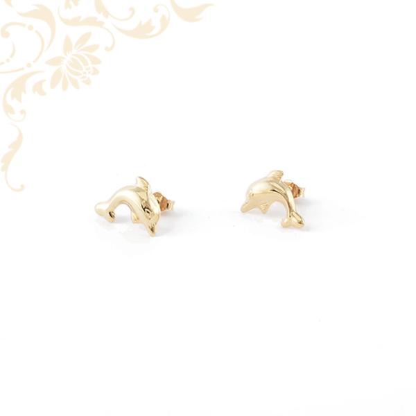Stekkeres delfines arany fülbevaló