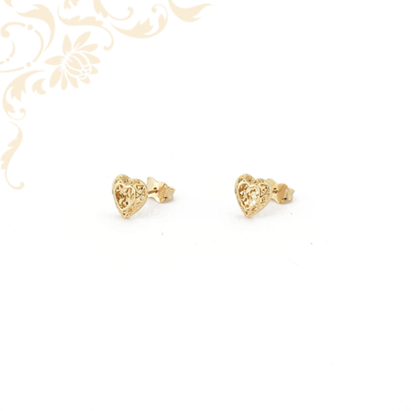 Arany szívecskés fülbevaló