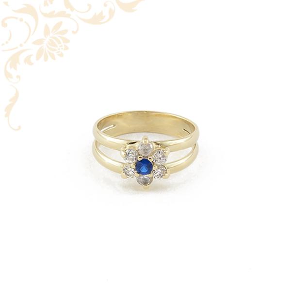 Klasszikus fazonú, női köves arany gyűrű