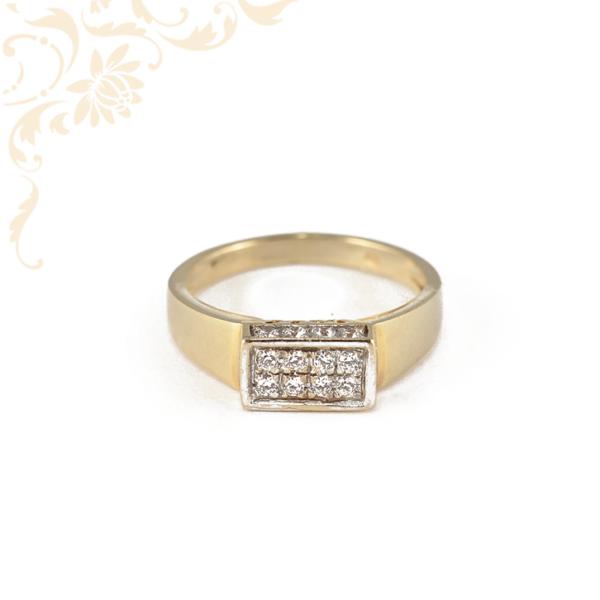 Elegáns, női köves arany gyűrű